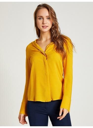 Vekem-Limited Edition Gizli Patlı Klasik Kesim Gömlek Sarı